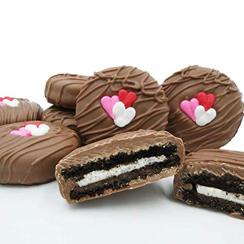 Philadelphia Candies Milk Chocolate Covered OREO Cookies, Valentine's Day Gift 8 Ounce (Day Valentines)