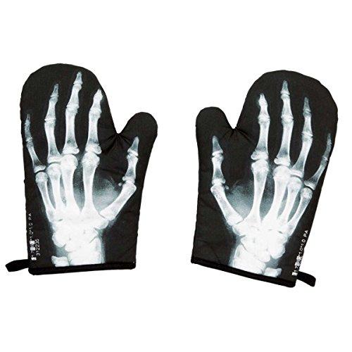 ComputerGear X Ray Skeleton Hand Bones Funny Oven Mitt Set - X-ray Funny