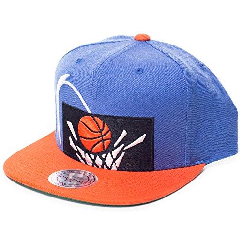 (Mitchell & Ness Cleveland Cavaliers 2-Tone Cropped XL Throwback Logo Snapback Hat - NBA Flat Bill Adjustable)