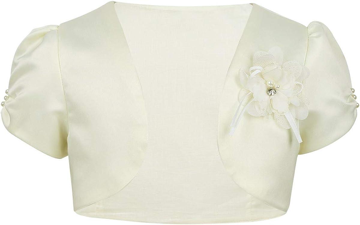 iEFiEL Toddlers Infant Baby Girls Long Sleeves Satin Bolero Shrug Birthday Party Wedding Flower Dress Cover Up Cardigan
