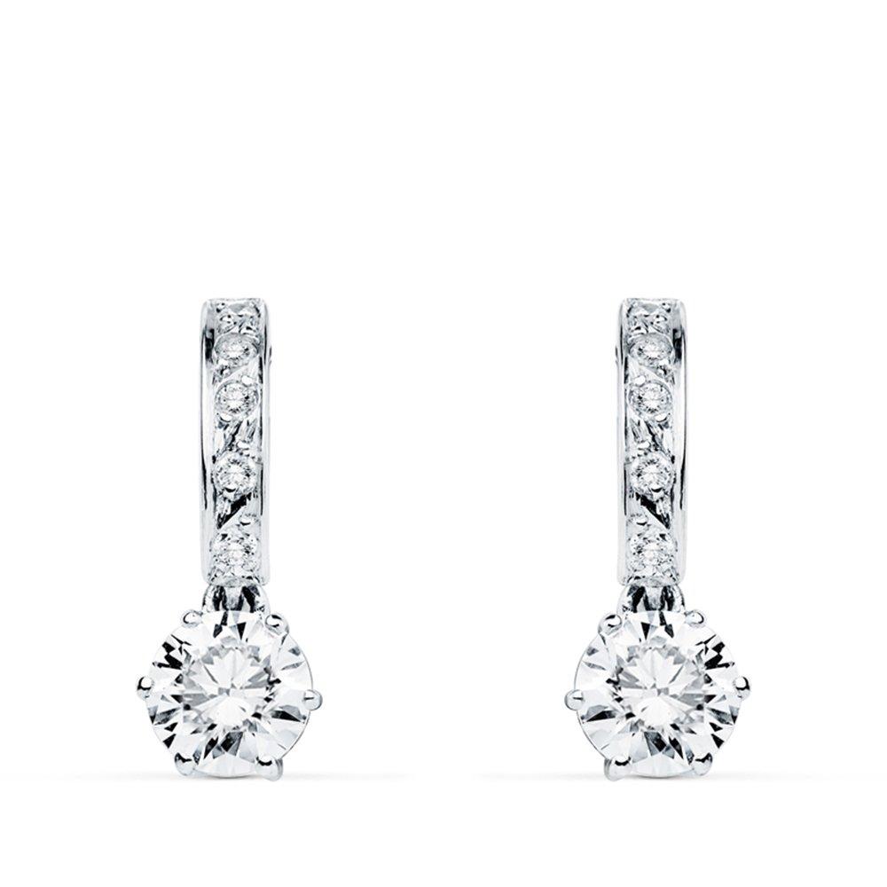39003b715e93 Pendientes de novia Duquesa d Aiguillon Oro Blanco 9K  Amazon.es  Joyería