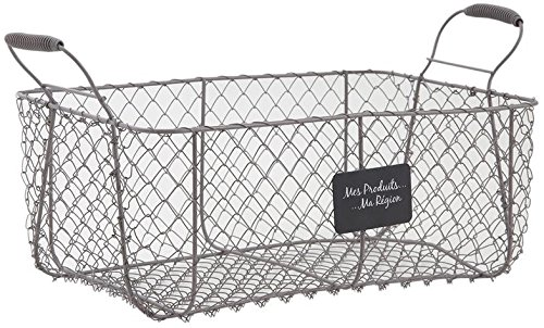 Wire Storage Basket Metal Crate Vintage French Farmhouse Style Vegetable Storage Homes on Trend