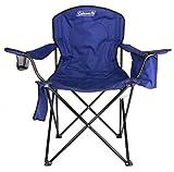 Coleman Chair Adult Quad w/Cooler, Blue