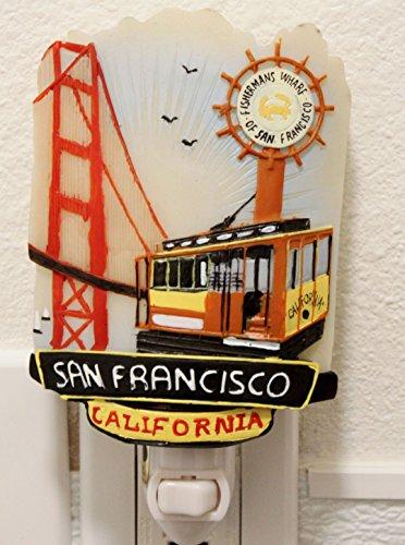 San Francisco Golden Gate Cable Car Fisherman's Wharf Night Light Lamp Candle Home Decor Birthday Housewarming Congratulatory Blessing Souvenir Gift US Seller (SF Golden Gate -CN55)