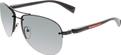 25305dc2ec Image Unavailable. Image not available for. Color  Prada Sunglasses SPS 56M BLACK  1BO-1A1 SPS56M