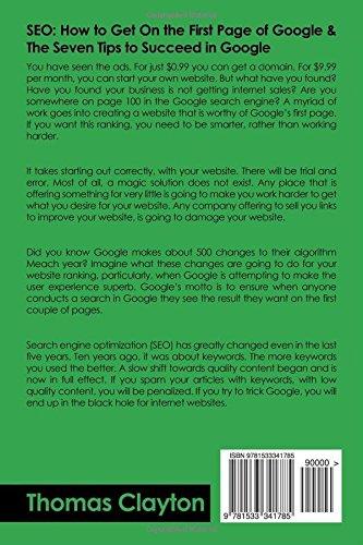 Seo Seo Bible Tips Google Bing Yahoo Volume 3 Thomas