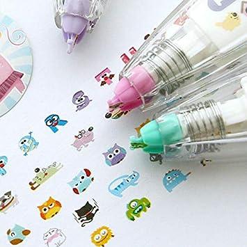 Cute Vivid Design Patterns,Little Kitty,for DIY//School//Decoration 1 Pcs SUPERTOOL Decorative Correction Tape Pen