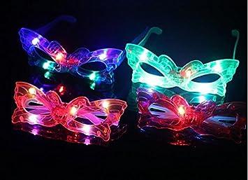 12 unid antifaces led mascara fiesta con luz led flash multicolores para fiestas, cumpleaños,