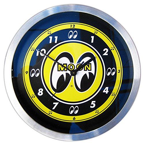 ムーンアイズ(MOONEYES)のアルミ ウォールクロック 掛け時計 時計 インテリア おしゃれ時計 ガレージ アメリカン雑貨 アメリカ雑貨 ムーン B01CN83B5W