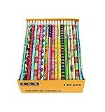 SKKSTATIONERY Assorted Colorful Pencils, Pencil Assortment, Awards & Incentives Pencils, 2 HB, 144/box.
