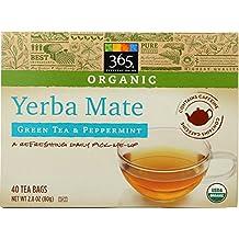 365 Everyday Value, Organic Yerba Mate with Green Tea & Peppermint (40 Tea Bags), 2.82 Ounce