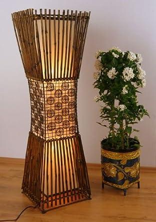 Standleuchte Aus Bambus Und Rattan Stehlampe Asiatische