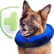 Soft Dog Cone Collar for Large XL Medium Small Dogs for After Surgery - Inflatable Cat Cone Collar - Inflatabl