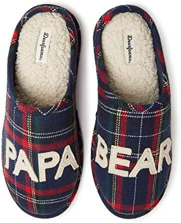 Dearfoams Men's Papa Bear Slipper