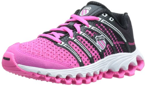 K-Swiss Women's Tube Run 100 Running Shoe,Neon Pink/Black Dot Fade,9.5 M US (K Swiss Womens Tubes Run 100 Athletic Shoe)