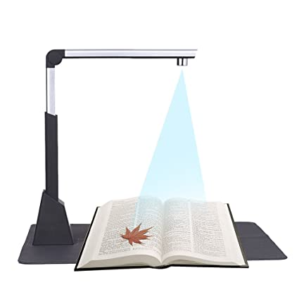 Walmeck Document Scanner Portable Adjustable High Speed Usb Book Image Document Camera Scanner 10 Mega Pixel Hd High Definition Max A3 Scanning Size