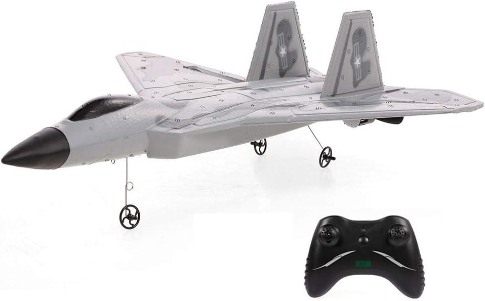 Gxscy FX822 F-22 Raptor RC Modelo de avión de Combate 2CH PPE 2.4G Control Remoto Plano de ala Fija RTF interesantes Regalos de Juguetes for niños