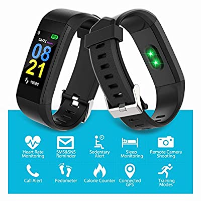 Swimmaxt Fitness Tracker Watch, Smart Fitness Band with Heart Rate Monitor, Waterproof Activity Tracker Watch with Step Counter, Calorie Counter, Pedometer Watch for Kids Women and Men
