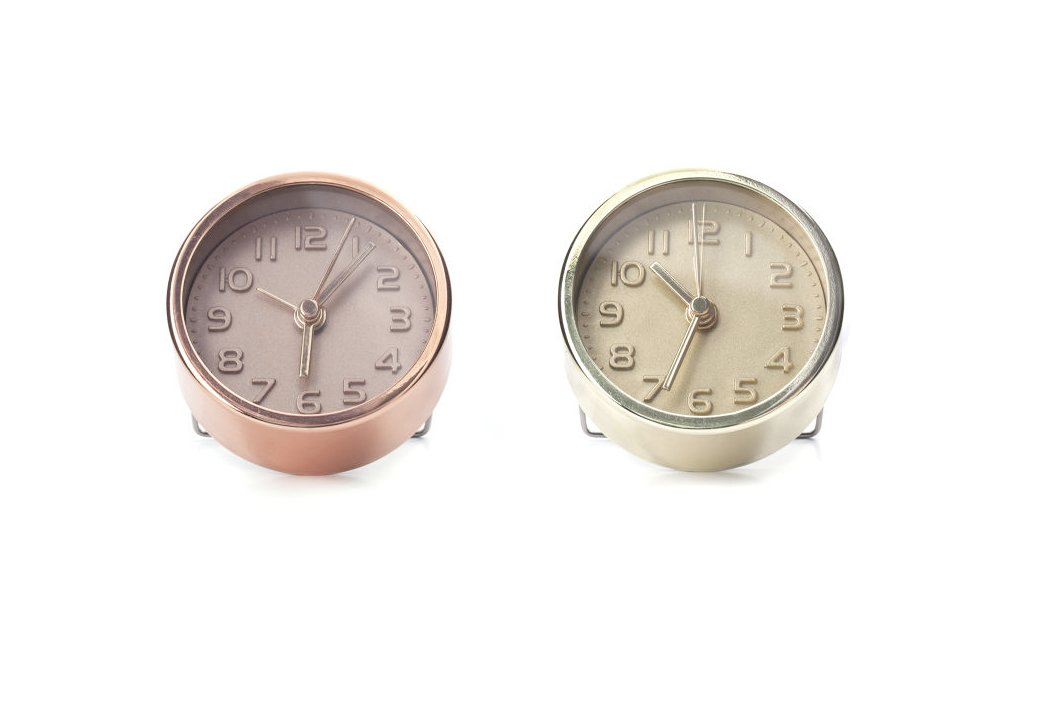 Kikkerland AC10-A Assorted Gold and Copper Alarm Clock