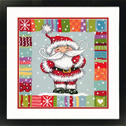 Dimensions Needlepoint Kit, Patterned Santa Claus Christmas Needlepoint, 14'' x - Patterned Christmas