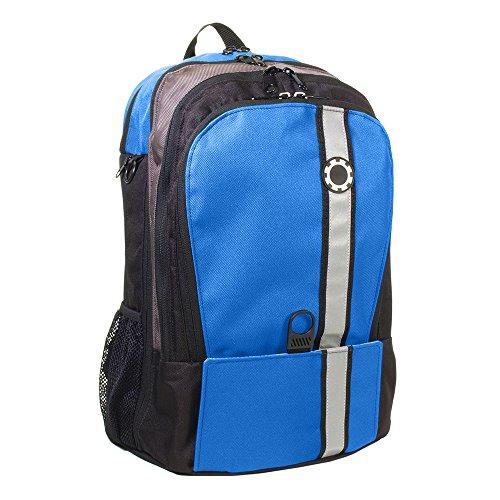 DadGear Backpack Diaper Bag - Blue Retro Stripe