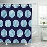 Emvency Shower Curtain Cartoon Blue Astronomy Planet Pattern Baby Circle Color Cosmos Shower