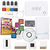 Silhouette Mint Stamp Machine Stamper Bundle with 123 Stamps Instructional DVD and Megan Elizabeth Ink Edgerz