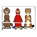 Graphics and More 'Jungle Interchangeable Animals