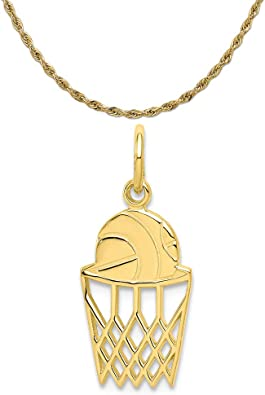 10K Yellow Gold Basketball Pendant