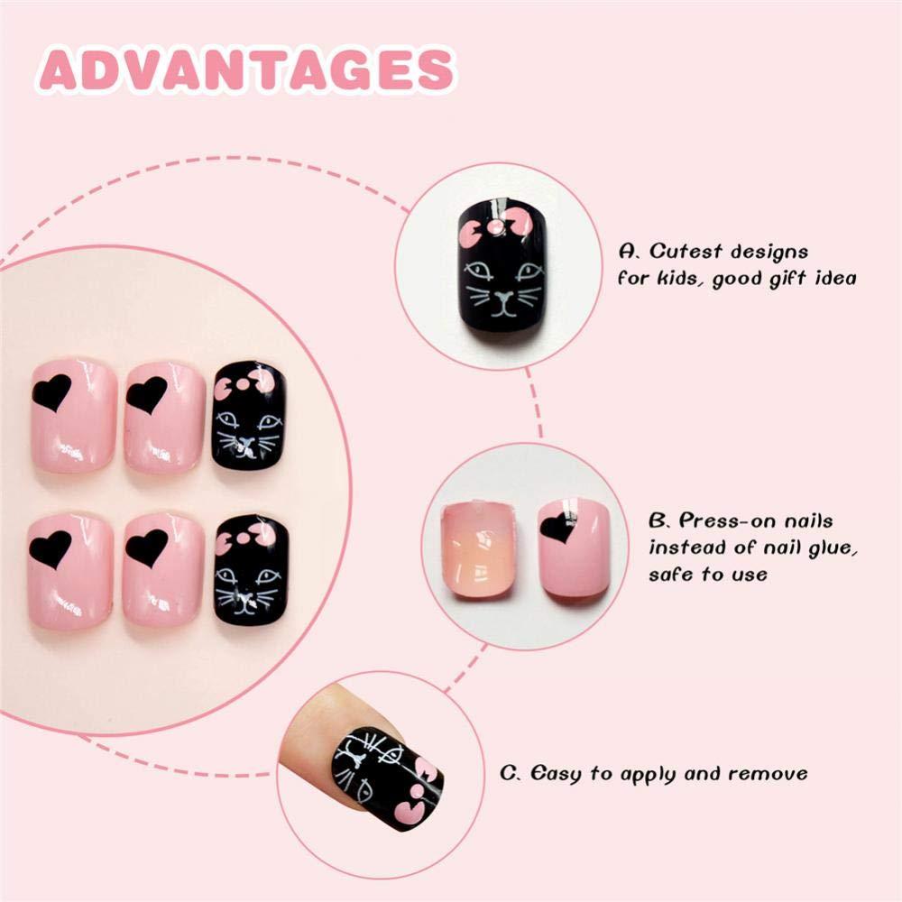Geometría Nail Art Tip ABS Uñas Postizas Perfect Length Full Cover Beauty Art Decoración Manicura para Mujeres Adolescentes Niñas 24 Unidades(C21): ...