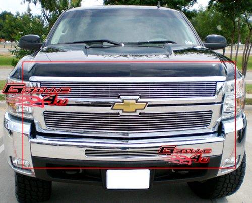 APS Fits 2007-2010 Chevy Silverado 2500HD/3500HD Billet Grille Combo #C67804A