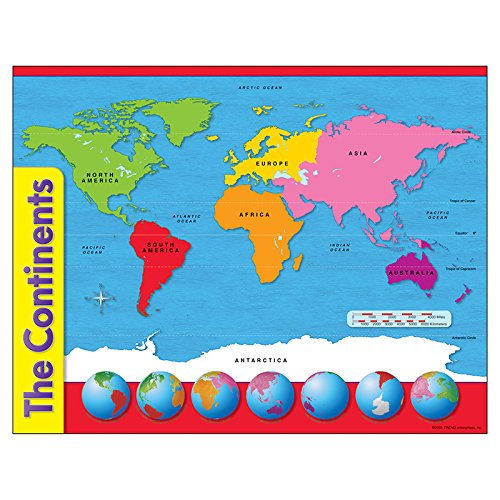 TREND enterprises, Inc. The Continents Learning Chart, 17