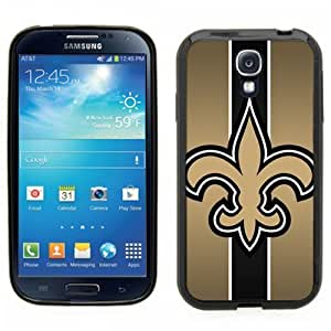Samsung Galaxy S4 SIIII Black Rubber Silicone Case - New Orleans Saints Football
