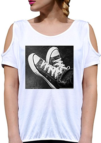 T SHIRT JODE GIRL GGG27 Z1929 SHOES SNEAKERS AMERICA STAR URBAN FASHION COOL BIANCA - WHITE XL