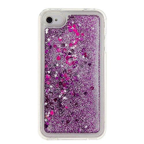 Für Apple iPhone 4 4G 4S (3,5 Zoll) Hülle ZeWoo® TPU Schutzhülle Silikon Tasche Case Cover - GS127 / lila