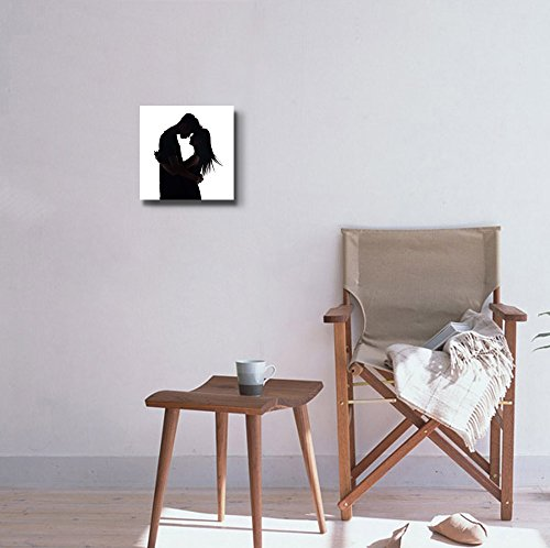 Silhouette of Two Lovers Romantic Couple Wall Decor