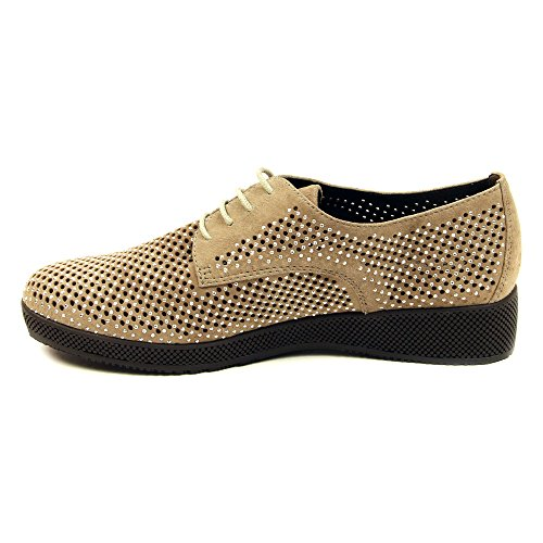 Top Up Camoscio Basse Aleria Lace Pietre Womens Sneakers Moda Vaneli Taupe D'argento wPqCna