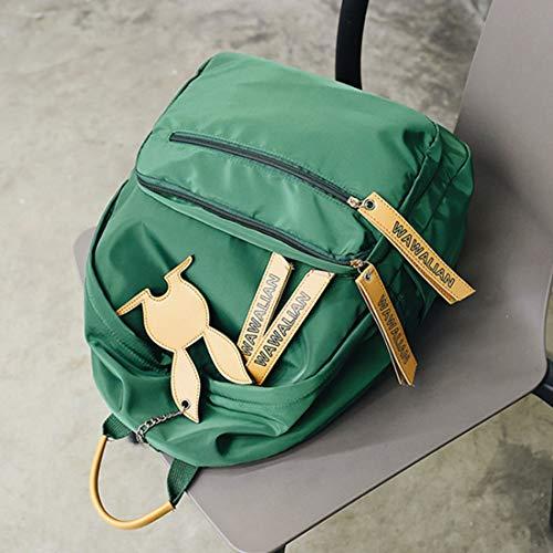 Black High Conmuta Moda Conejo Igspfbjn Mochila La Escuela Secundaria Capacidad Green Bolsa Del Luz Decoración Detrás color De Empaqueta Gran A Modelo School 0q1A0