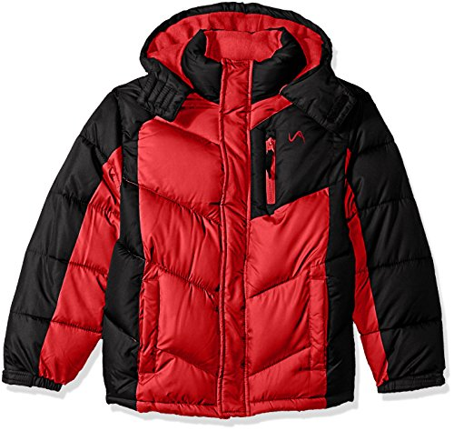 Vertical 9 Little Boys' Bubble Jacket (More Styles Available), V205-Red/Black, 7