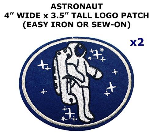 2 PCS Astronaut NASA Space Theme DIY Iron / Sew-on Decorative Applique Patches
