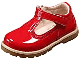 DADAWEN Baby Girl's T-Strap Dress Shoes Red UK Toddler Size 7
