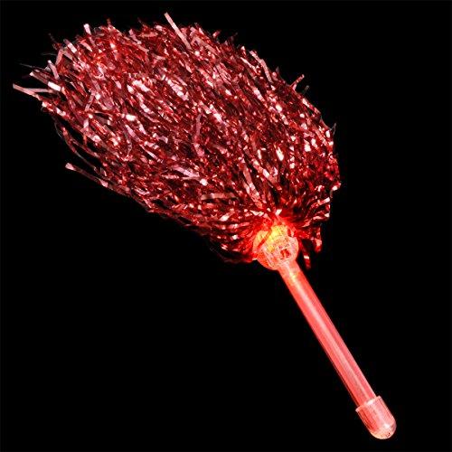 FlashingBlinkyLights Red Team Spirit Light Up Pom Poms -