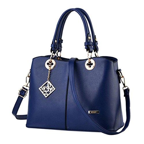 PU 1 la de señora Bolso la de bolso asas bolsa Azul cuero de hombro ZARU de WUzvcnyZUB
