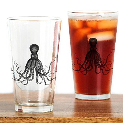 CafePress Vintage Octopus Glass Drinking