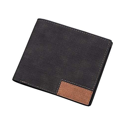Black Kt Homme Plis 0 9 À 11 Portefeuill Deux Doux 6 Sideways Pratique 6cm Cuir gray Portefeuilles Conception 8gwqr8T