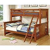 Furniture of America Denny TwinXL-Queen Bunk Bed, Oak