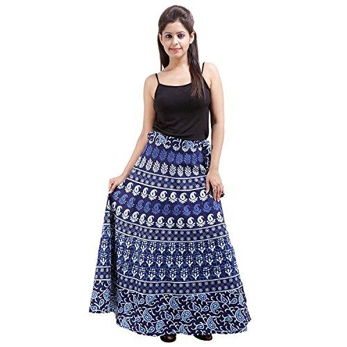 Indian Handicrfats Export Women's Cotton Printed Wraparound Skirt