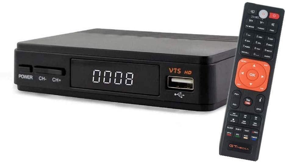 GT MEDIA V7S HD DVB-S2 Digital Receptor de TV por satélite Decodificador Freesat V7 HD Mejora con USB WiFi Antena FTA 1080P Full HD Soporte PVR, ...