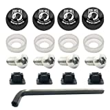Tricktoppers Stainless Steel Rust Resistant License Plate Frame Security Anti-Theft Self Tapping Security Screws Fasteners Kit With Installation Tool Wrench Black Screw Caps - Military Veteran Pow Mia