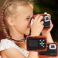 Kids Mini Digital Camera Waterproof 1280 x 720HD High Definition Underwater Swimming Digital Action Camera Camcorder with 2.0inch TFT HD Screen (960 x 240)